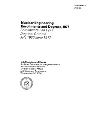 Nuclear Engineering Enrollments and Degrees  1977 PDF