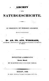 Archiv für Naturgeschichte: Band 2