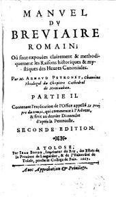 Manuel du Breviaire romain: Volume2