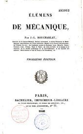 Eléments de mécanique