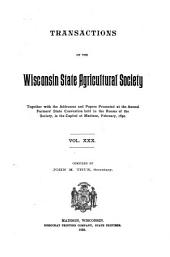 Transactions of the Wisconsin State Agricultural Society: Volume 30