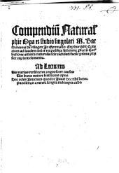 Compendium naturalis philosophiae
