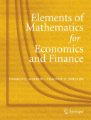 Elements of Mathematics for Economics and Finance PDF