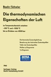 Die thermodynamischen Eigenschaften der Luft: im Temperaturbereich zwischen −210 °C und +1250 °C bis zu Drücken von 4500 bar