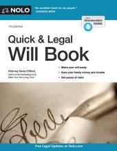 Quick & Legal Will Book: Edition 7
