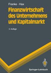 Finanzwirtschaft des Unternehmens und Kapitalmarkt: Ausgabe 3