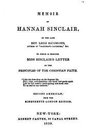 Memoir of Hannah Sinclair