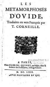 Les Métamorphoses d'Ovide: traduites en vers François