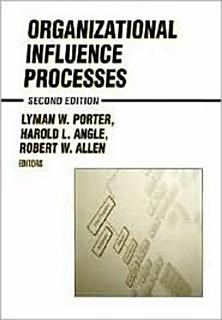 Organizational Influence Processes Book