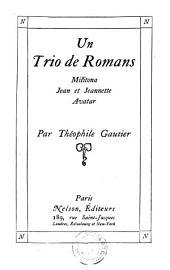 Un trio de romans