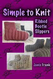 Simple to Knit Ribbed Bootie Slippers