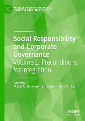 Social Responsibility and Corporate Governance