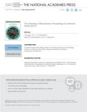 The Chemistry of Microbiomes: Proceedings of a Seminar Series