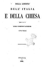 Della libertà dell'Italia e della Chiesa