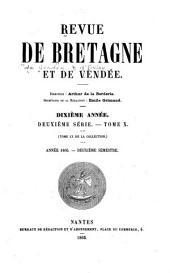 Revue de Bretagne, de Vendée & d'Anjou: Volume2;Volume10