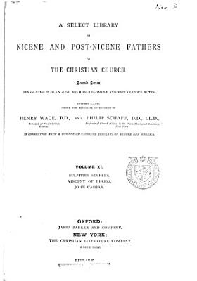 A Select Library of Nicene and Post Nicene Fathers of the Christian Church PDF
