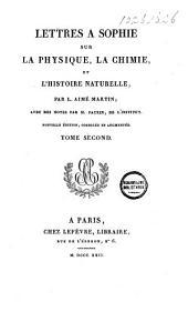 Lettres a Sophie: sur la physique, la chimie et l'histoire naturelle
