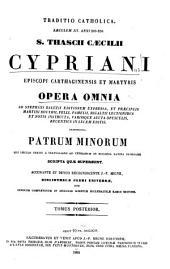 Patrologiae cursus completus ...: Series latina, Volume 4