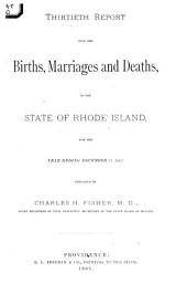 Report of Vital Statistics for Rhode Island