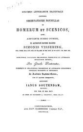 Specimen litterarium inaugurale continens observationes nonnullas in Homerum et Scenicos