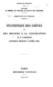 Statistique des grèves et des recours à la conciliation et à l'arbitrage ...