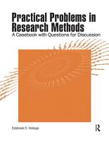 Practical Problems in Research Methods PDF