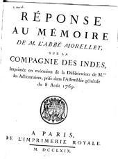 Réponse au Mémoire de M. l'abbé Morellet, sur la Compagnie des Indes