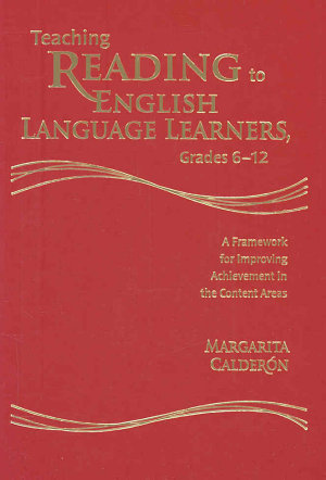 Teaching Reading to English Language Learners  Grades 6 12 PDF