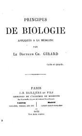 Principes de biologie appliqués à la médicine