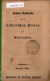 Nachricht über den Historischen Verein für Niedersachsen: Ausgabe 10