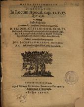 Manna kekrummenon sive Dispvtatio in locum Apocal. cap. II.v.17: qvam ... sub auspiciis ... Friderici Spanhemii, fil. ...