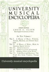 University Musical Encyclopedia: Volume 5