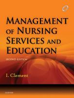 Management of Nursing Services and Education   E Book PDF
