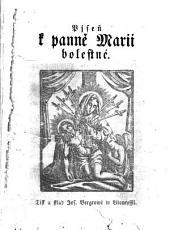 Pjseň k panně Marii bolestné