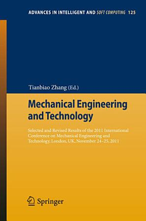 Mechanical Engineering and Technology PDF