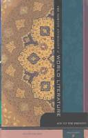 The Norton Anthology of World Literatures