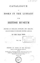 Catalogue of Books in the Library of the British Museum Printed in England  Scotland  and Ireland  and of Books in English Printed Abroad  to the Year 1640      Q Z  Music  Index  Index of printers  booksellers  and stationers PDF