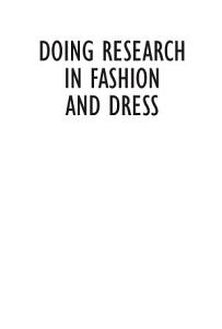 Doing Research in Fashion and Dress Book