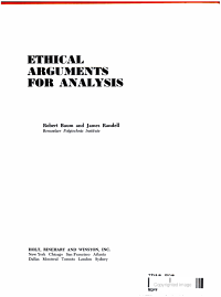 Ethical Arguments for Analysis PDF