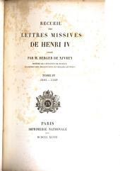 Recueil des lettres missives de Henri IV.: 1593-1598