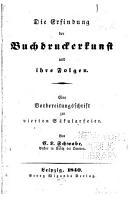 Die Erfindung der Buchdruckerkunst und ihre Folgen PDF