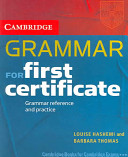 Cambridge Grammar for First Certificate Students Book without Answers PDF
