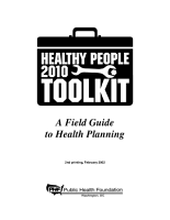 Healthy People 2010 Toolkit PDF
