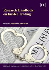 Research Handbook on Insider Trading