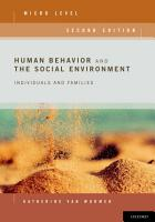 Human Behavior and the Social Environment  Micro Level PDF