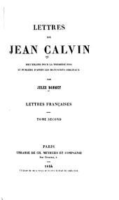 Lettres de Jean Calvin: Volume2