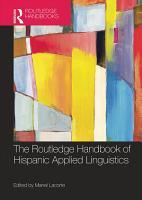 The Routledge Handbook of Hispanic Applied Linguistics PDF