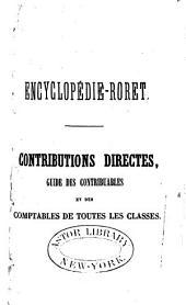 Manuel des contributions directes: Guide des contribuales et des comptables