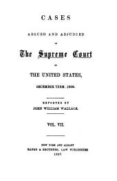 United States Reports: Cases Adjudged in the Supreme Court, Volume 74