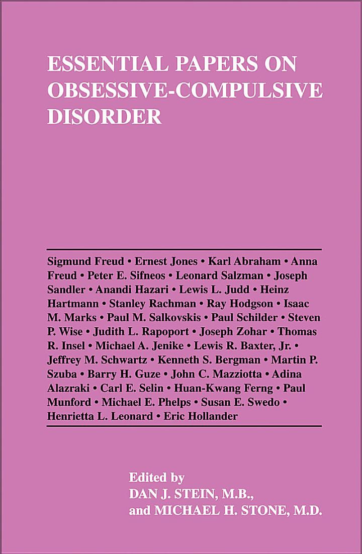 Essential Papers on Obsessive-compulsive Disorder